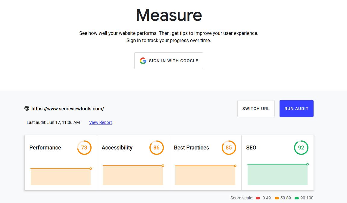 Core Web Vitals Tool
