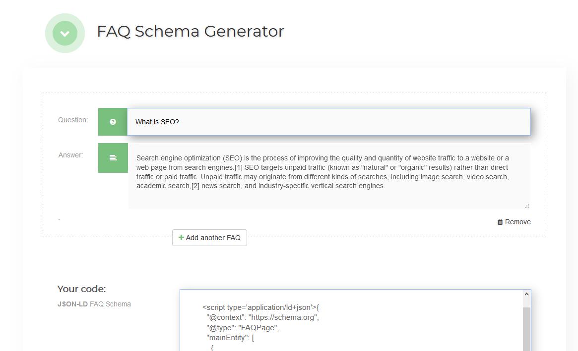 FAQ generator