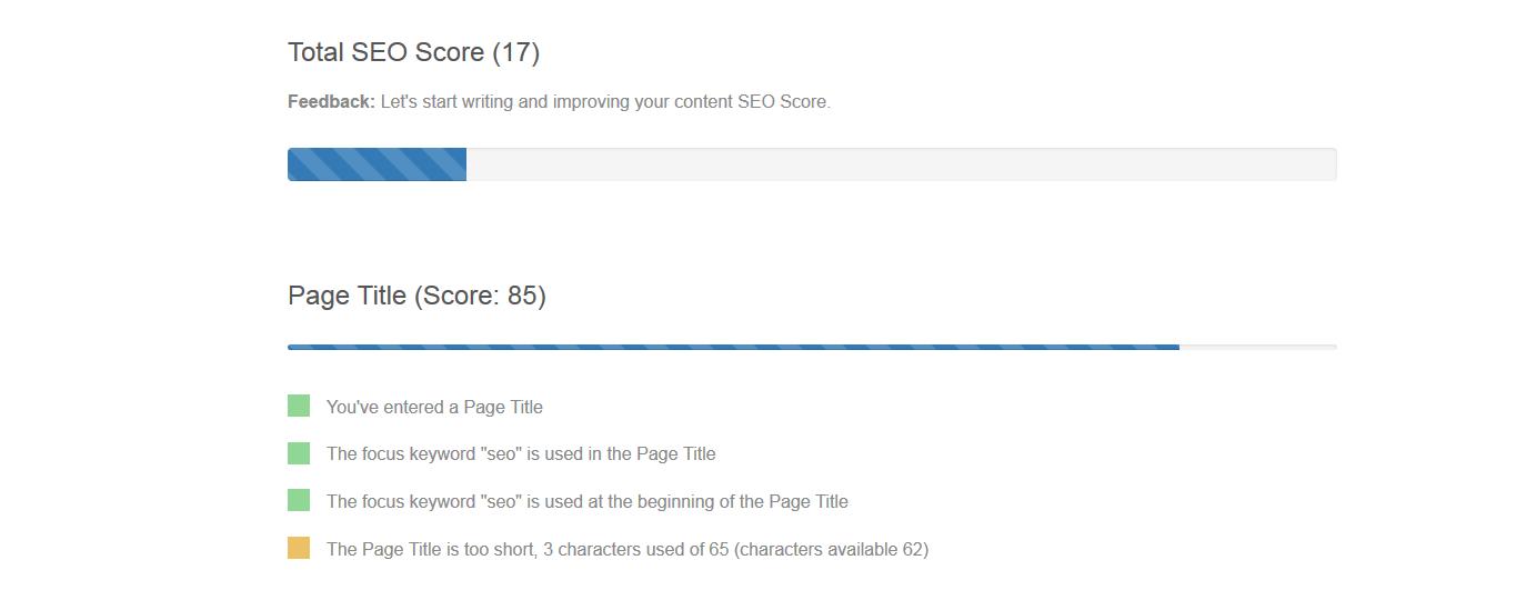 SEO Content Editor Score