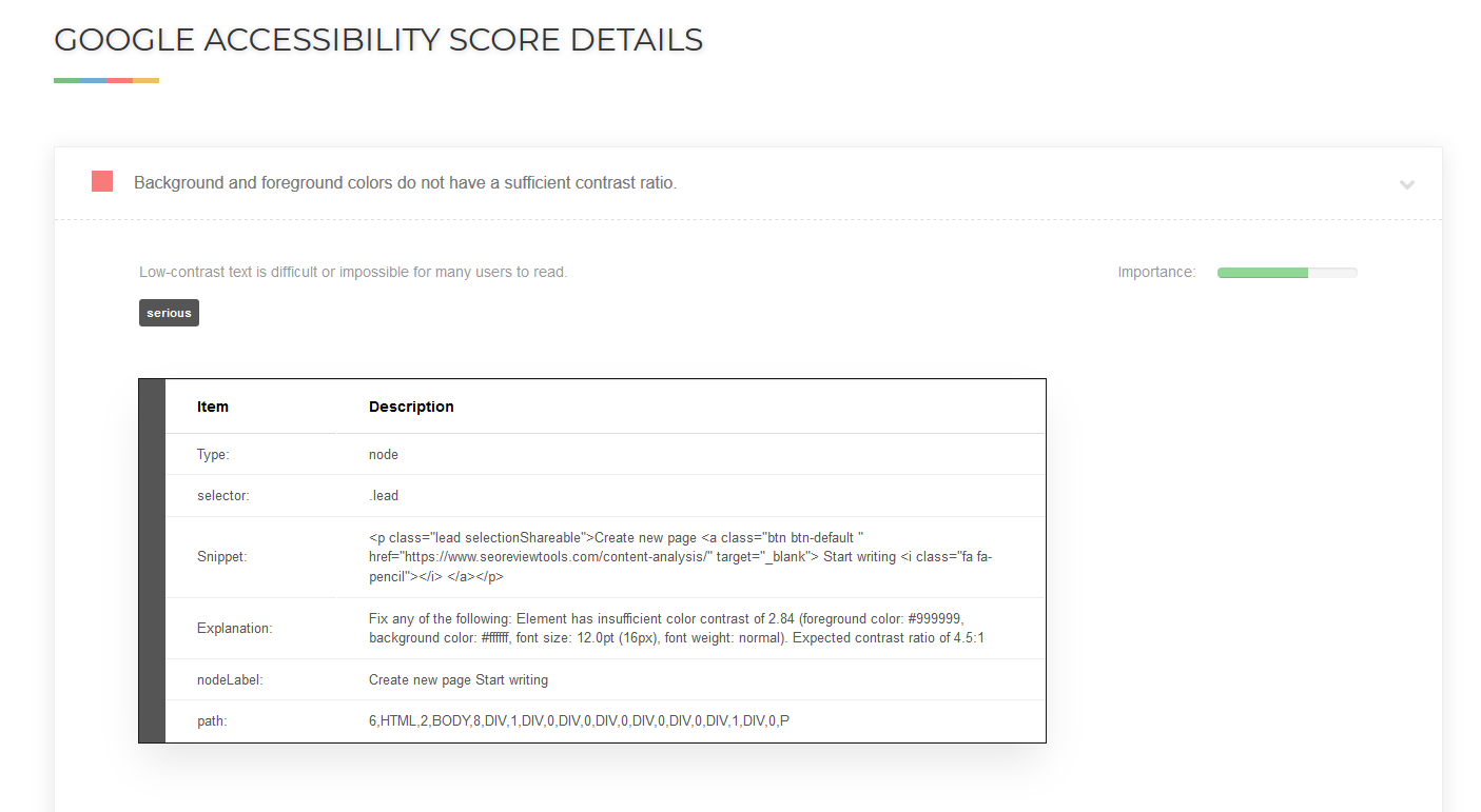Website Accessibility Test