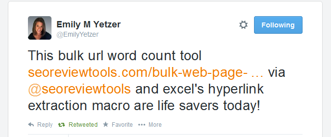Bulk Web page Word Count checker (online) - SEO Review Tools