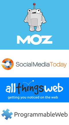 MOZ, Social Media Today, All Things Web and more..